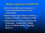 binary approach in ssap 62