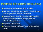 propose revisions to ssap 62
