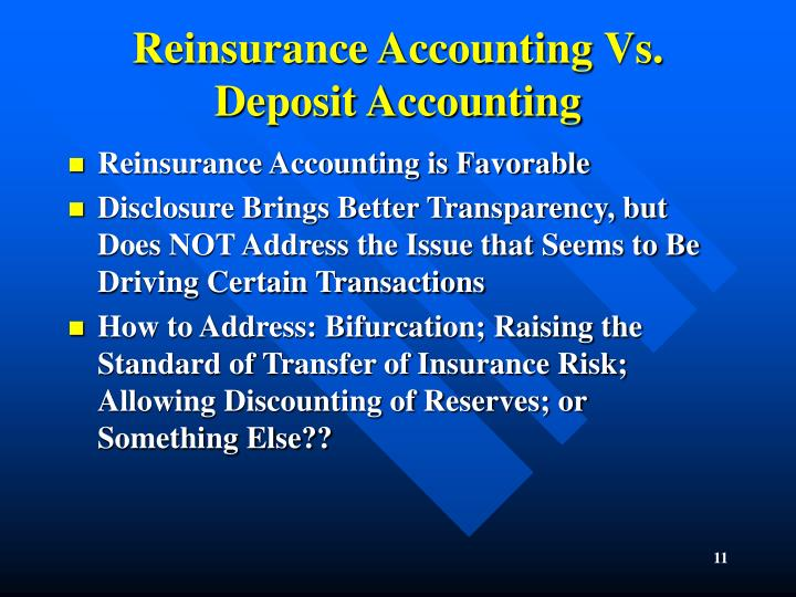 Reinsurance Accounting Vs. Deposit Accounting