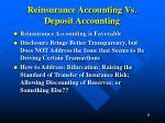 reinsurance accounting vs deposit accounting