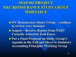 ssap 62 project p c reinsurance study group timetable