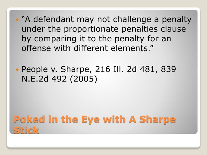 """""""A defendant may not challenge a penalty under the proportionate penalties clause by comparing it to the penalty for an offense with different elements."""""""