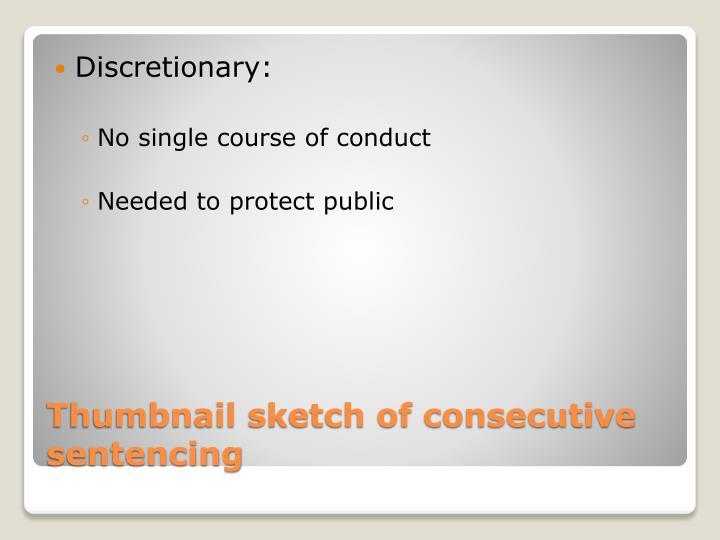 Discretionary:
