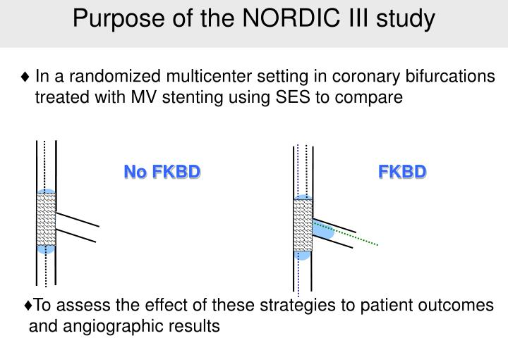 Purpose of the NORDIC III study