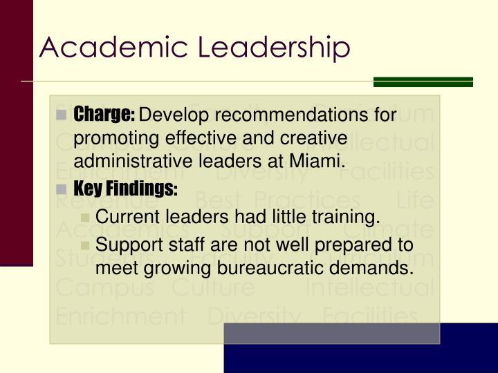 Academic Leadership
