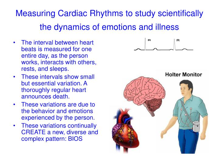 Measuring Cardiac Rhythms to study scientifically the dynamics of emotions and illness