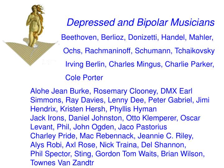 Depressed and Bipolar Musicians