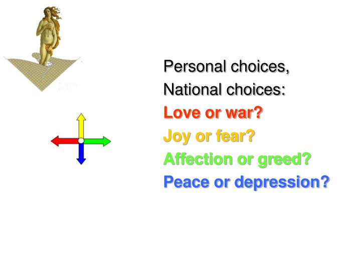 Personal choices,