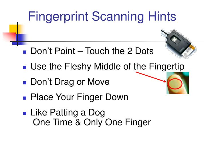 Fingerprint Scanning Hints
