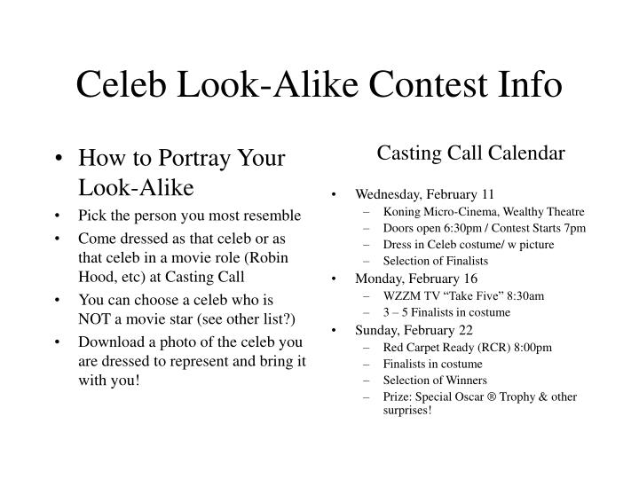 How to Portray Your Look-Alike