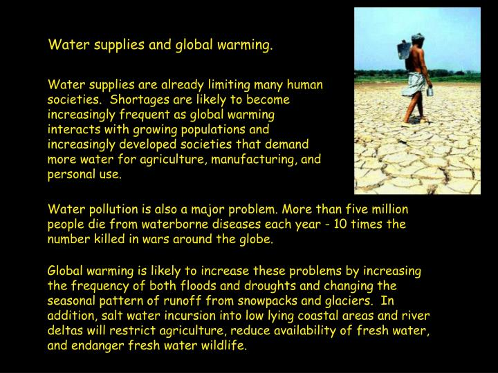 Water supplies and global warming.