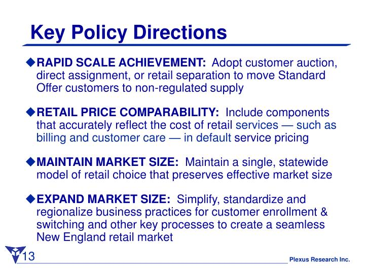 Key Policy Directions