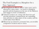 the ford example is a metaphor for a new approach