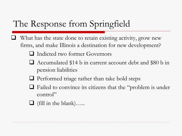 The Response from Springfield