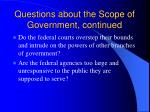 questions about the scope of government continued2