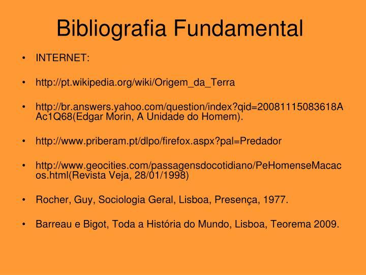 Bibliografia Fundamental
