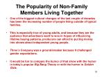 the popularity of non family members living together