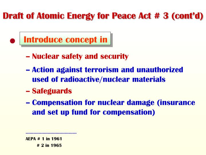 Draft of Atomic Energy for Peace Act # 3 (cont'd)