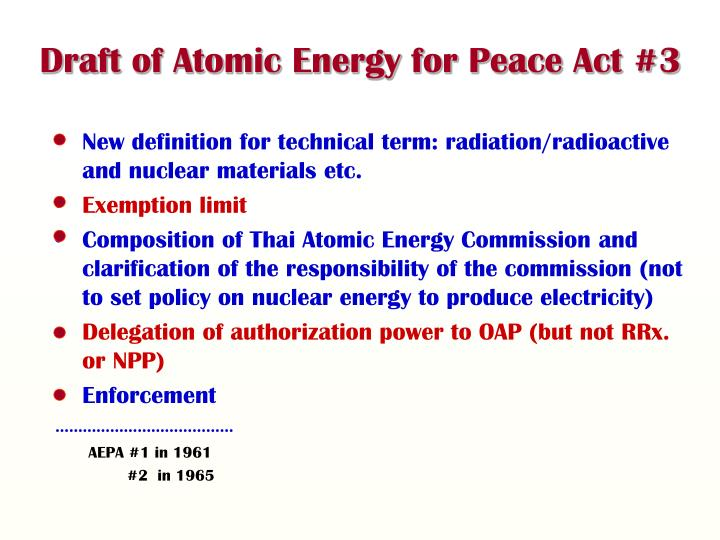 Draft of Atomic Energy for Peace Act #3