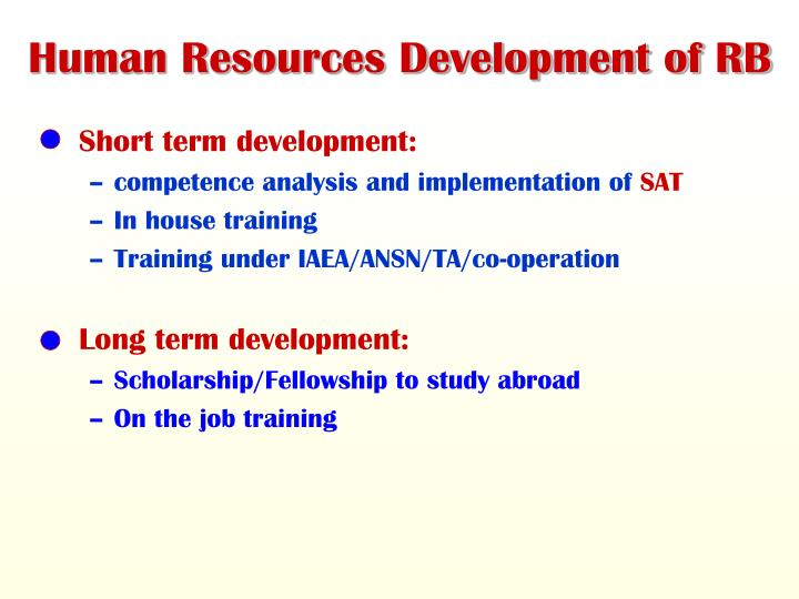 Human Resources Development of RB