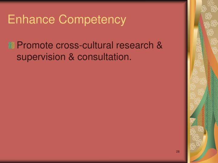 Enhance Competency