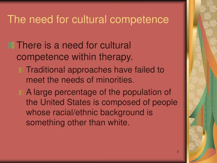 The need for cultural competence