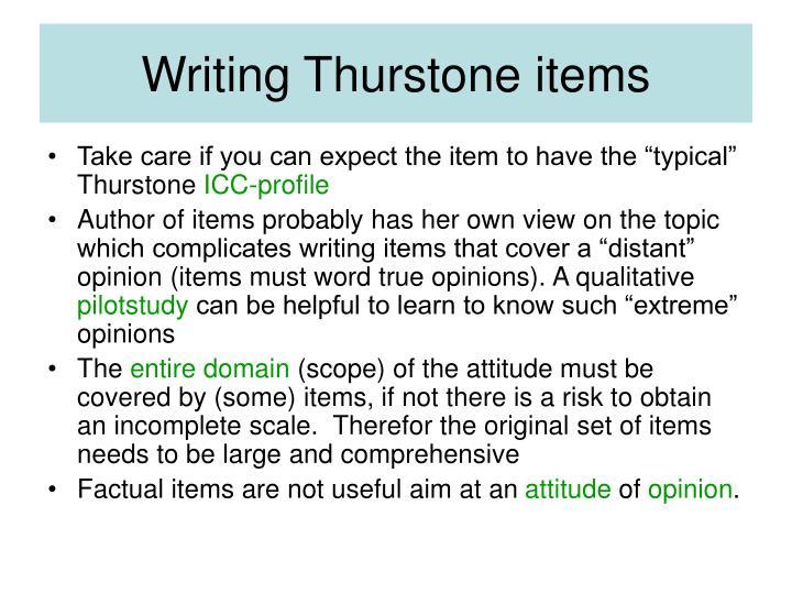 Writing Thurstone items