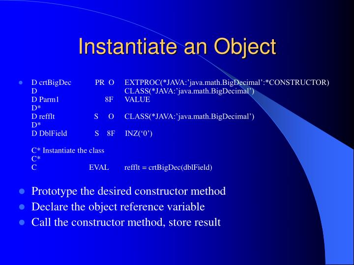 Instantiate an Object