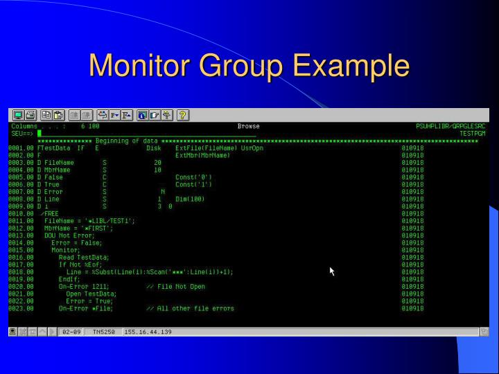 Monitor Group Example