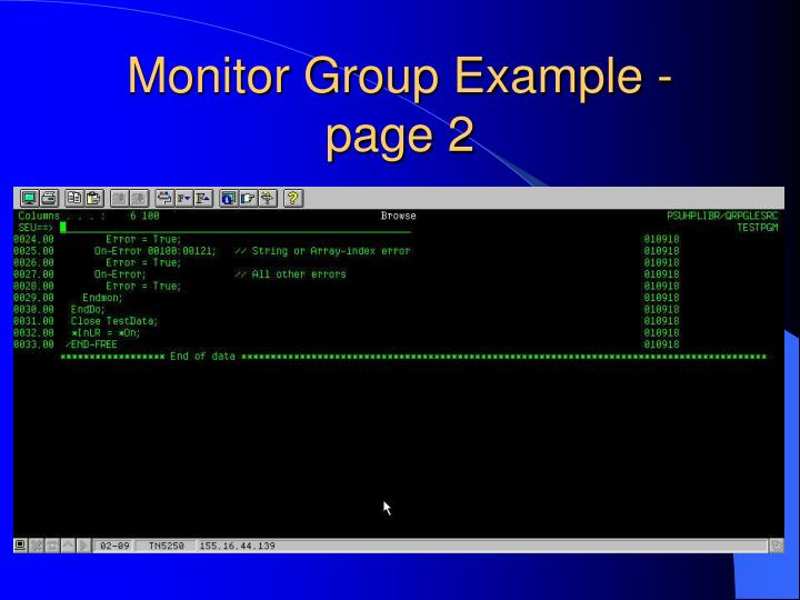 Monitor Group Example - page 2