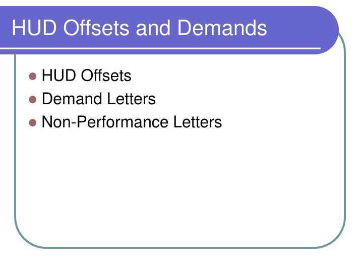 HUD Offsets and Demands