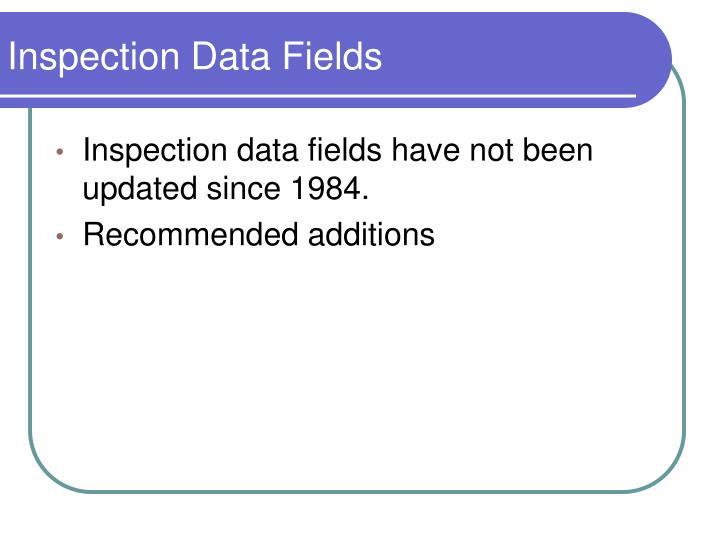 Inspection Data Fields