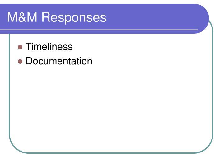 M&M Responses