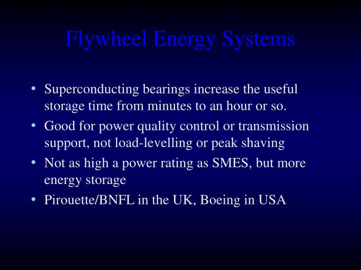 Flywheel Energy Systems