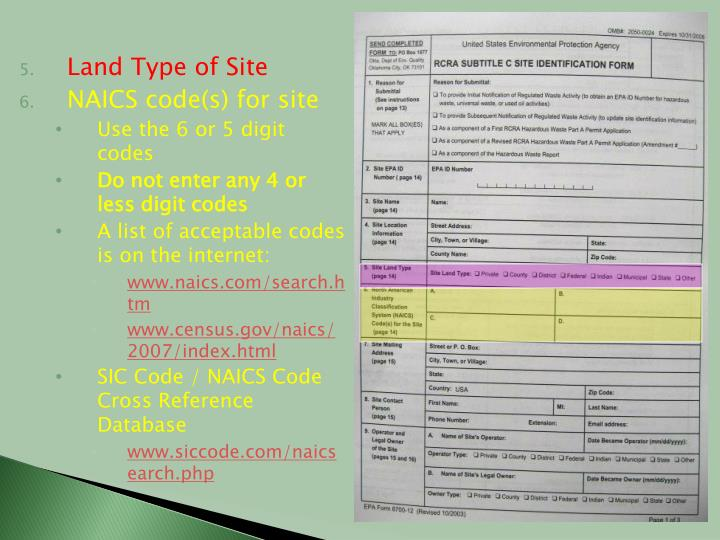 Land Type of Site
