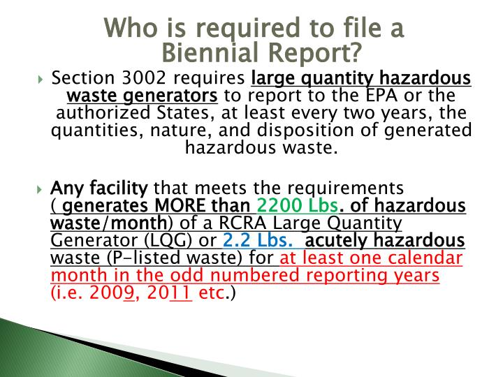 Who is required to file a