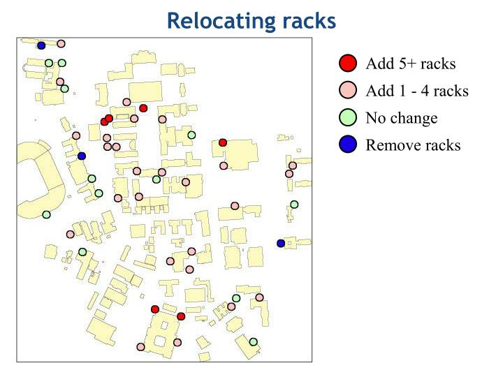 Relocating racks