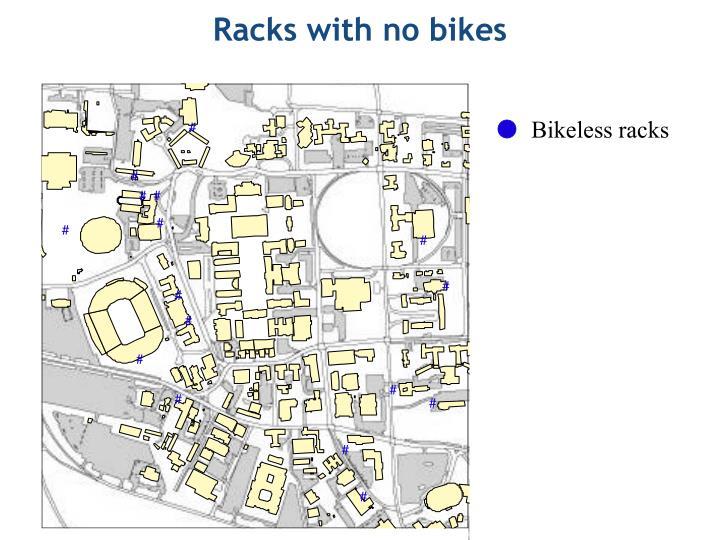 Racks with no bikes