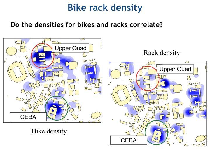 Bike rack density