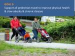 goal 5 support all pedestrian travel to improve physical health slow obesity chronic disease