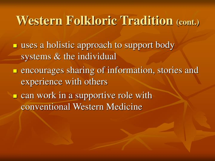 Western Folkloric Tradition