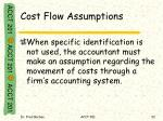 cost flow assumptions1