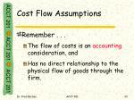 cost flow assumptions2