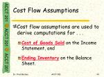 cost flow assumptions3