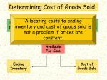 determining cost of goods sold