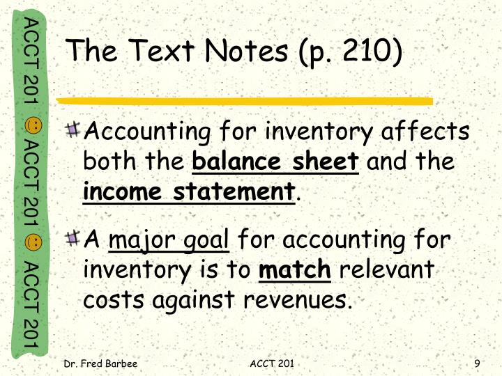 The Text Notes (p. 210)