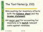 the text notes p 210