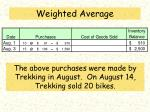 weighted average1