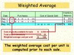 weighted average2