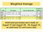 weighted average3